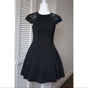Alberto Makali | Black Dress w/ Tulle Underneath